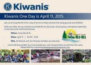 Kiwanis One Day 2015
