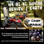 Crowd funding campaign for Camp WaRiKi