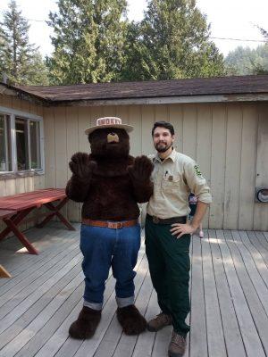 Smokie Forest Ranger at Camp Wa-Ri-Ki on Washougal River