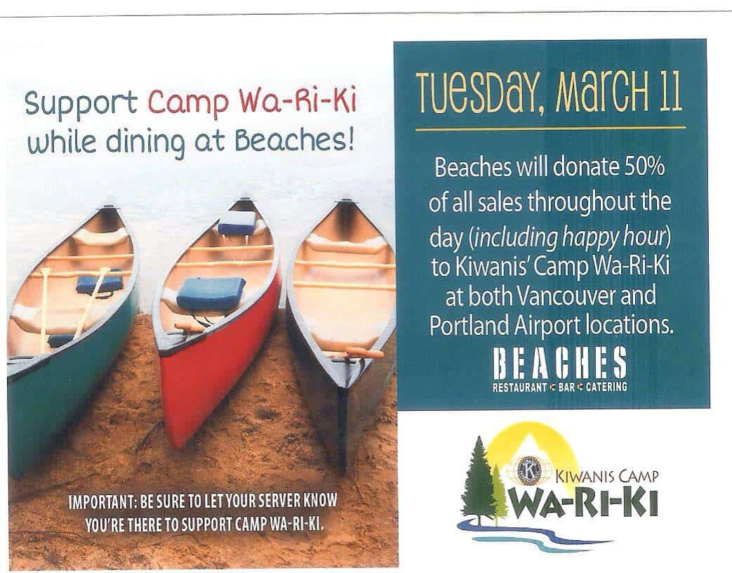 Beaches Fundraiser March 11