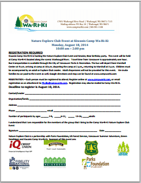 Nature Club Registration Form