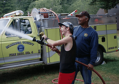 Skamania Fire brings it to the Special Olympics BBQ