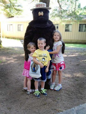 Smokey Bear at Camp Wa-Ri-Ki