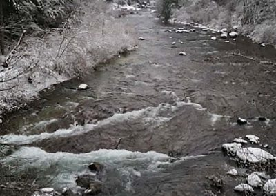 The Washougal in Winter at Camp Wa-Ri-Ki