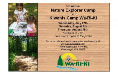 Update for 3rd Annual Nature Explorer Camp