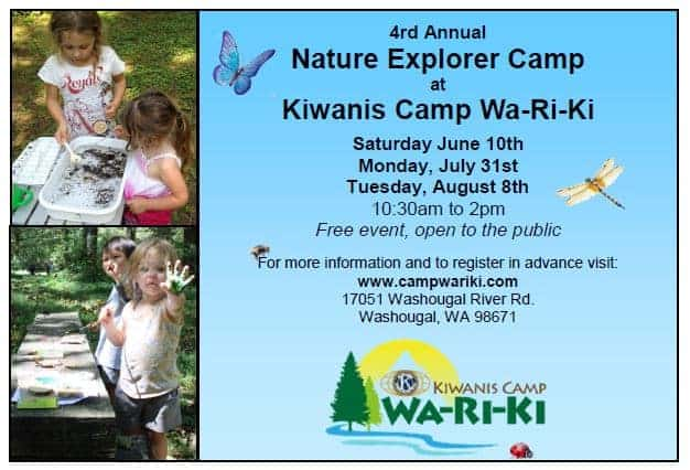 Nature Explorer Camp 2017 at Kiwanis Camp Wa-Ri-Ki!