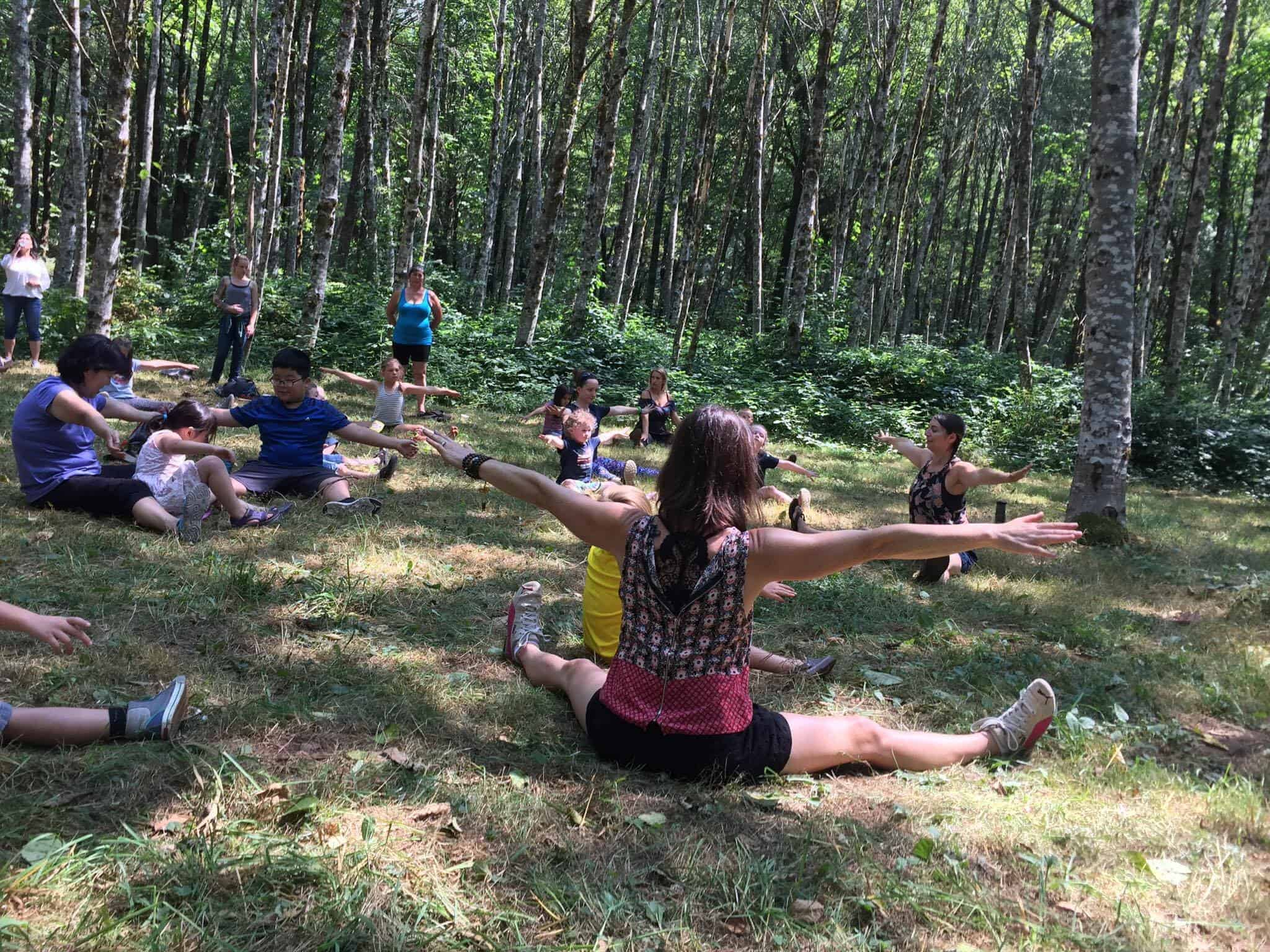 Nature Exercises at Day Camp for Nature Explorers