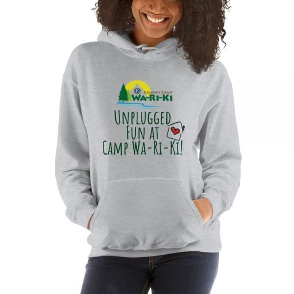 Unplugged at Camp Wa-Ri-Ki Hooded Sweatshirt (Unisex) 2