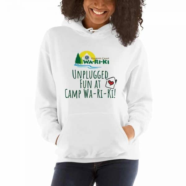 Unplugged at Camp Wa-Ri-Ki Hooded Sweatshirt (Unisex) 1