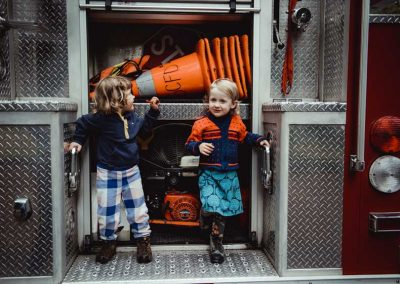 Hey... look what's in the firetruck