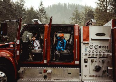 Kids love the firetruck