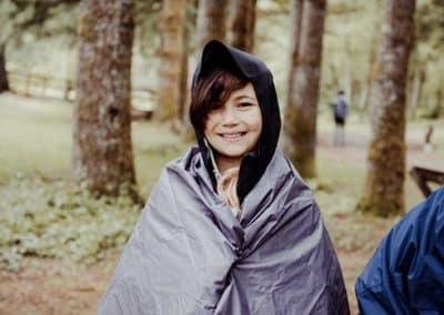 Camp fun in rain