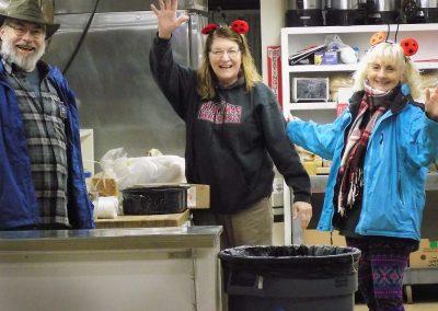 The happy kitchen crew