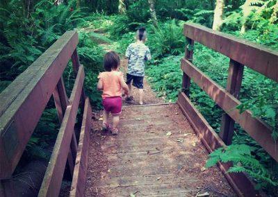 Children explore trails at Camp Wa-Ri-Ki